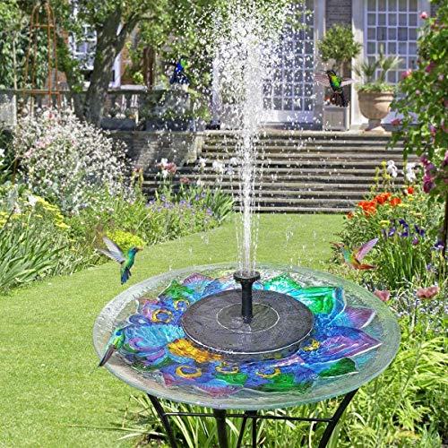 Solar Powered Fountain, Solar Fountain Pump, Solar Birdbath Fountain, Free Standing Floating Birdbath Water Pumps for Garden, Patio, Pond and PoolIdeal Decoration