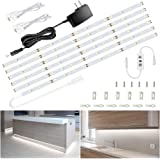 Ustellar 20ft LED Under Cabinet Lighting Kit, 1800lm Dimmable Light Strip, Hand Wave Activated Under Counter Lights for Kitch
