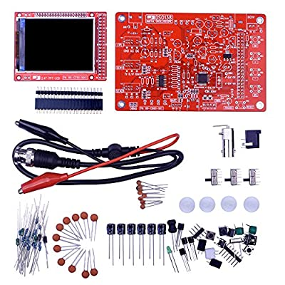 "Kuman DSO 138 DIY KIT Open Source 2.4"" TFT 1Msps Digital Oscilloscope Kit with DIY parts + Probe 13804K (SMD not-soldered)"