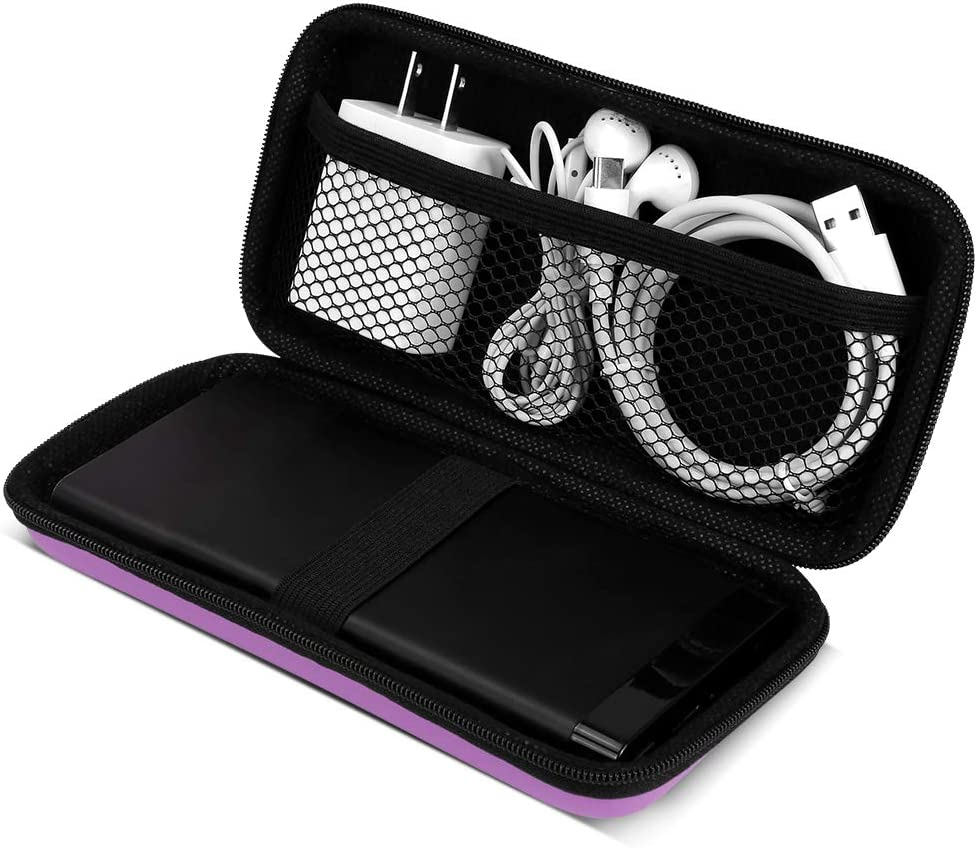 Cable Management Red COOYA Cord Organizer Carrying Case Watch Power Bank USB Charger Hard EVA Pouch Charger Protector Electronics Accessories Travel Organizer Double Zipper Case for Solar Charger