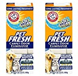 Arm & Hammer Pet Fresh Carpet Odor Eliminator Plus Oxi Clean Dirt Fighters - 30 Oz (Pack of 2 - 60 Oz Total)