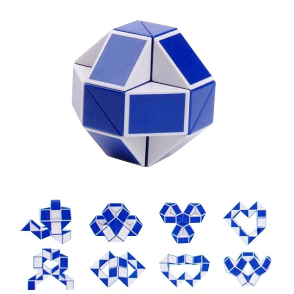 ALISIAM Cool Snake Magic variété Populaire Twist Kids Jeu Transformable Puzzle Cadeau Bleu)