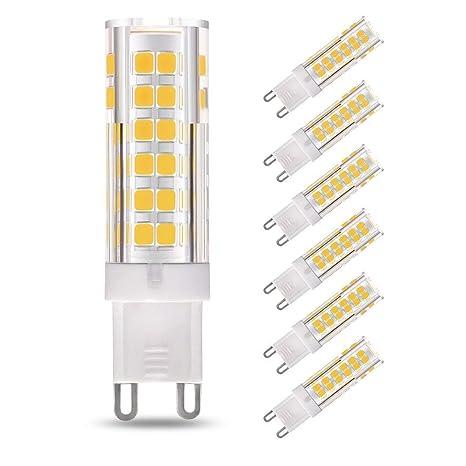 Lightone - Bombilla LED G9 (6 unidades, 7 W, equivalente a bombilla halógena