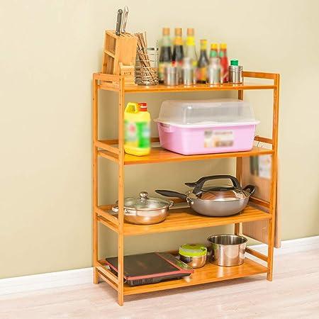 Kitchen Furniture - Horno de microondas Estante de bambú ...