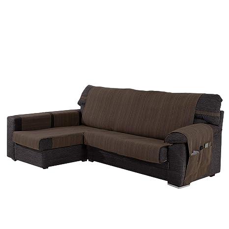 Funda Cubre Chaise Longue Modelo Darsena, Color Chocolate, Medida Brazo Izquierdo – 240cm (Mirándolo de Frente)