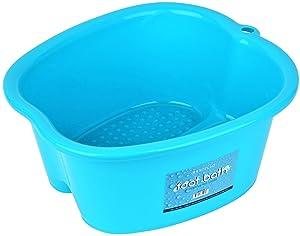 Mantello Foot Wash Basin Foot Spa Bucket Foot Soaking Tub, Pedicure, Detox, Massage (Blue, Large)