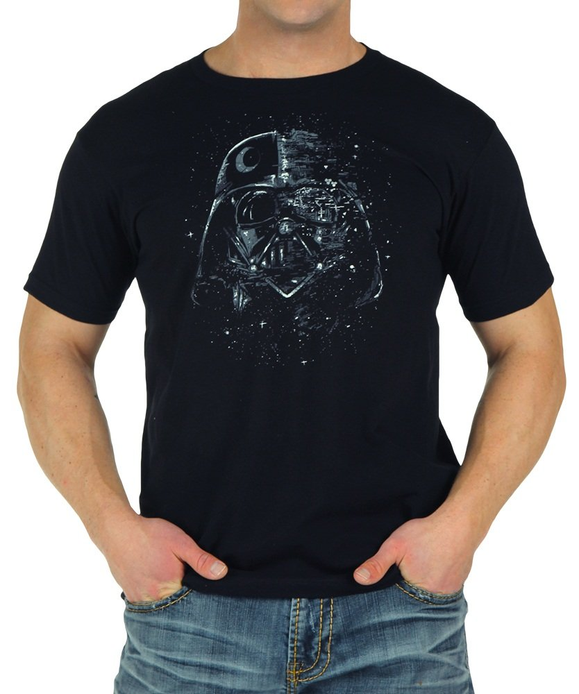 Star Wars Broken Mask Vader T-Shirt X-Large by Mighty Fine (Image #1)