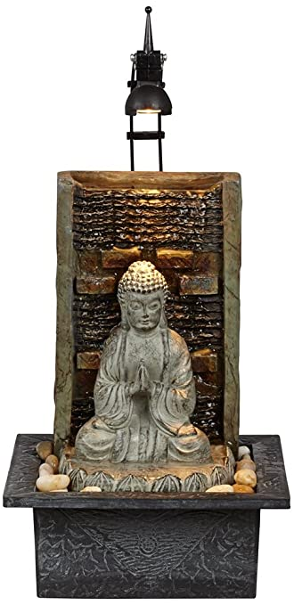 "Amazon.com: Namaste Buddha 11 1/2"" High Indoor Table Fountain ..."