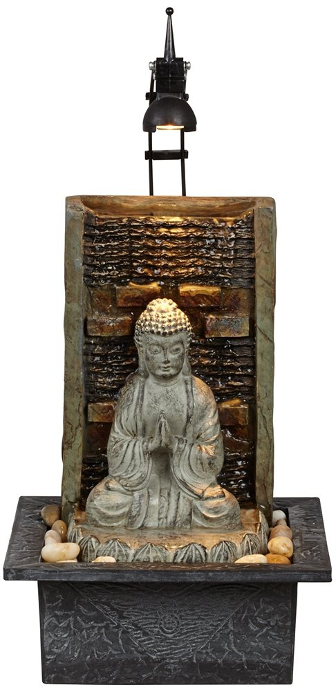Namaste Buddha 11 1/2'' High Indoor Table Fountain by John Timberland