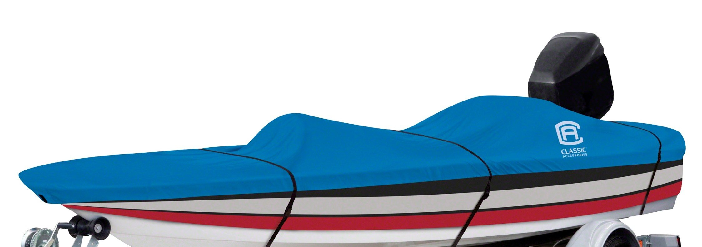 Classic Accessories Stellex Boat Cover For Bass Boats, 16' - 18.5' L Up to 98'' W