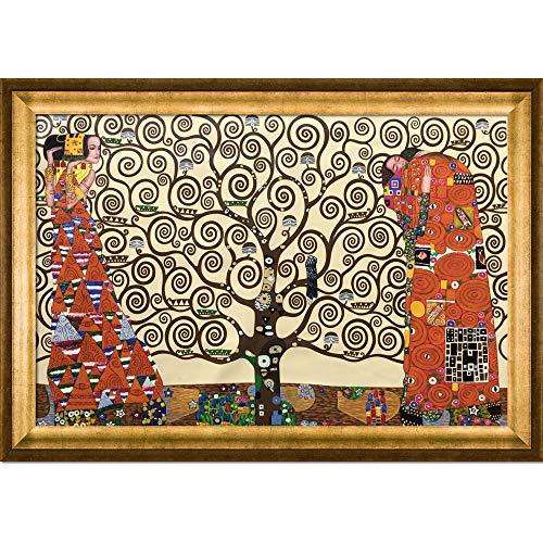Gustav Paintings Landscape Klimt - overstockArt The Tree of Life, Stoclet Frieze, 1909-Framed Oil Reproduction of an Original Painting by Gustav Klimt
