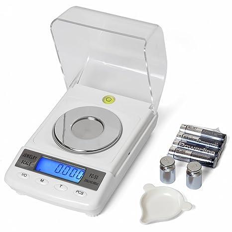 washati WS de FC50 – Báscula de precisión digital 50 g/0,001 g Incluye Calibración
