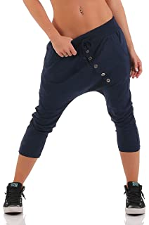 Malito básico Pantalones Bombacho Pantalones Anchos 91086 Mujer ... bc5869446405