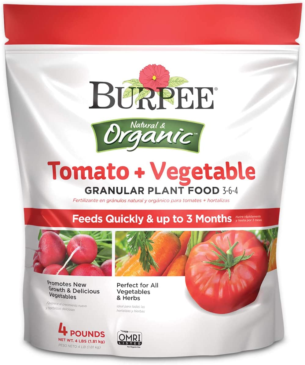 Burpee Organic Tomato and Vegetable Granular Plant Food, 4 lbs