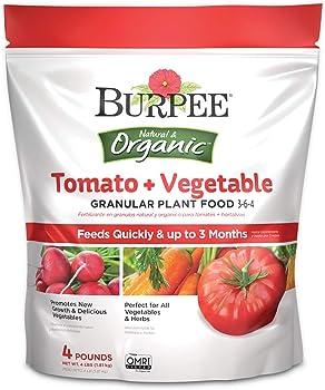 Burpee 4 Lbs Organic Fertilizer For Vegetable Garden