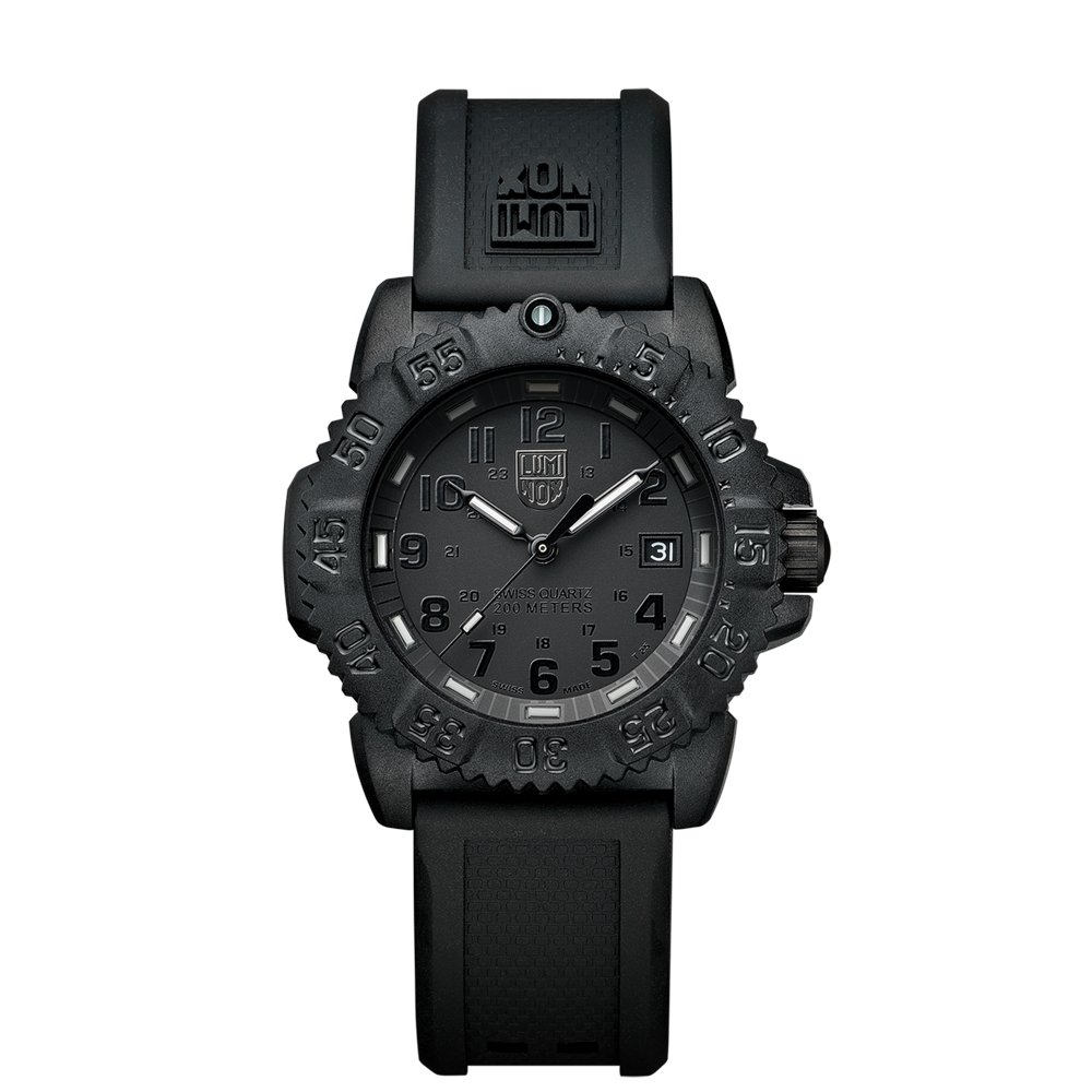 Luminox Sea Navy Seal Colormark 7050 Mid-size Black Rubber Strap Watch A.7051.BO
