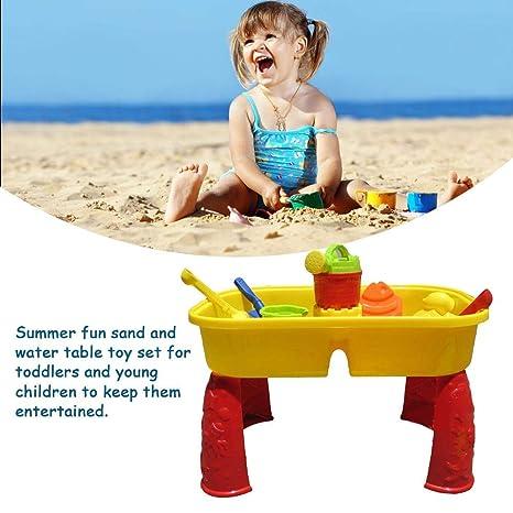 Diversión de verano Mesa de arena y agua, juego de arenero de ...