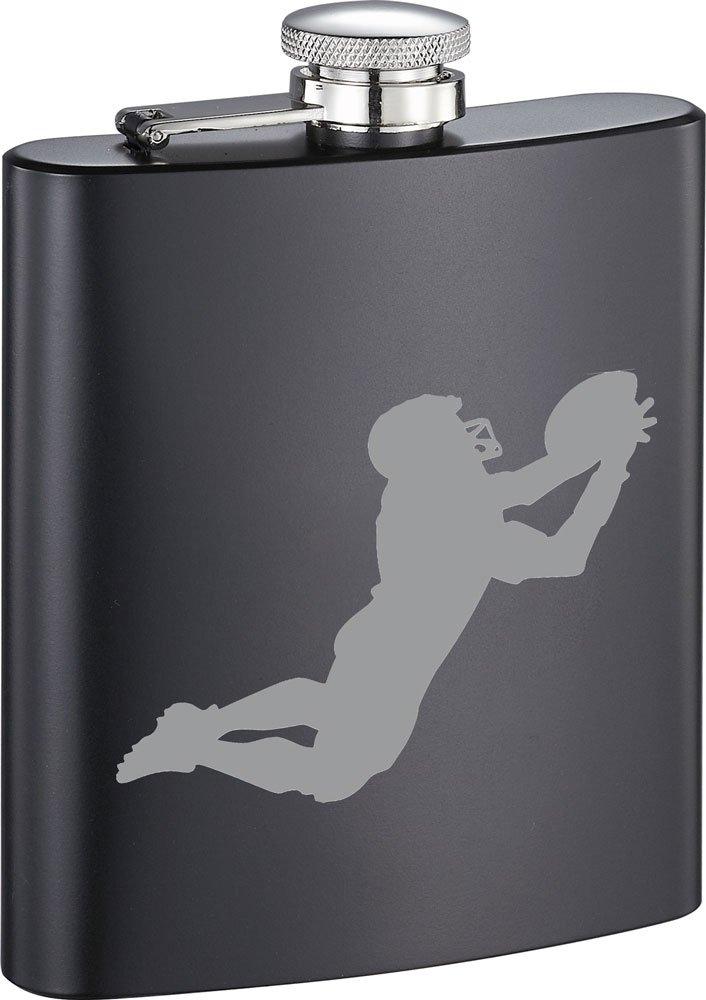 【日本産】 Visol ブラックマット 8オンス Visol ステンレススチールフラスコ 無料フットボールイメージ彫刻付き ブラックマット 8オンス B07DP7T5Y9, ユダマチ:3df9601c --- a0267596.xsph.ru