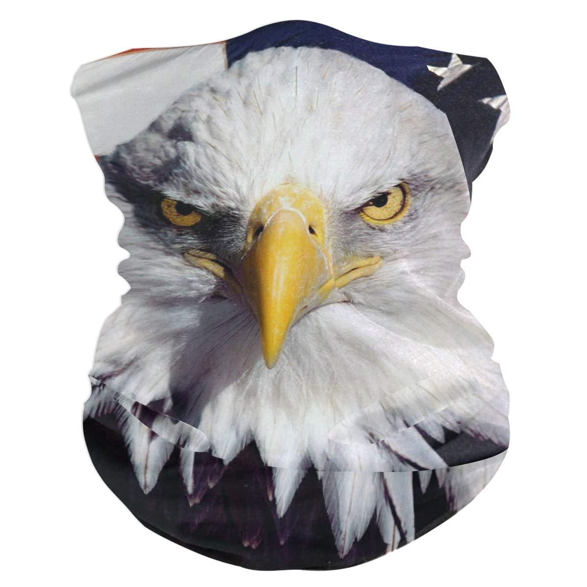 Amazon Com American Flag With Bald Eagle Headband Womens Bandana Multifunctional Mens Balaclava Neck Warmer Face Mask Sweatband Facemask Beauty