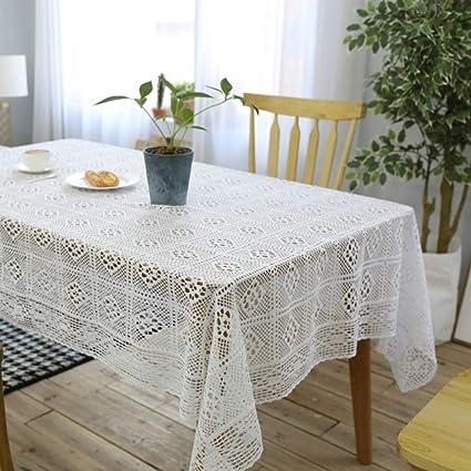 Gz Tablecloth Tovaglia Alluncinetto Bianca Lavorata A Maglia Paese