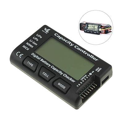 RC Lipo Battery Capacity Checker, CellMeter-7 Digital Lipo Battery Balance Tester Controller Tester for NiMH Nicd Life LiPo Li-ion Battery (2-7 Cells): Toys & Games