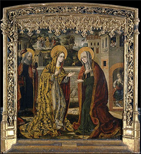 'Master Of Perea The Visitation Ca. 1500 ' Oil Painting, 18 X 20 Inch / 46 X 50 Cm ,printed On Polyster Canvas ,this High Resolution Art Decorative Prints On Canvas Is Perfectly Suitalbe For Study Gallery Art And Home Gallery Art And Gifts