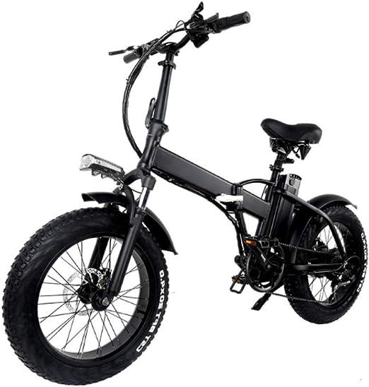 WXJWPZ Bicicleta Eléctrica Plegable 500w Neumático Gordo Plegable Bicicleta Eléctrica De 2 Ruedas: Amazon.es: Hogar