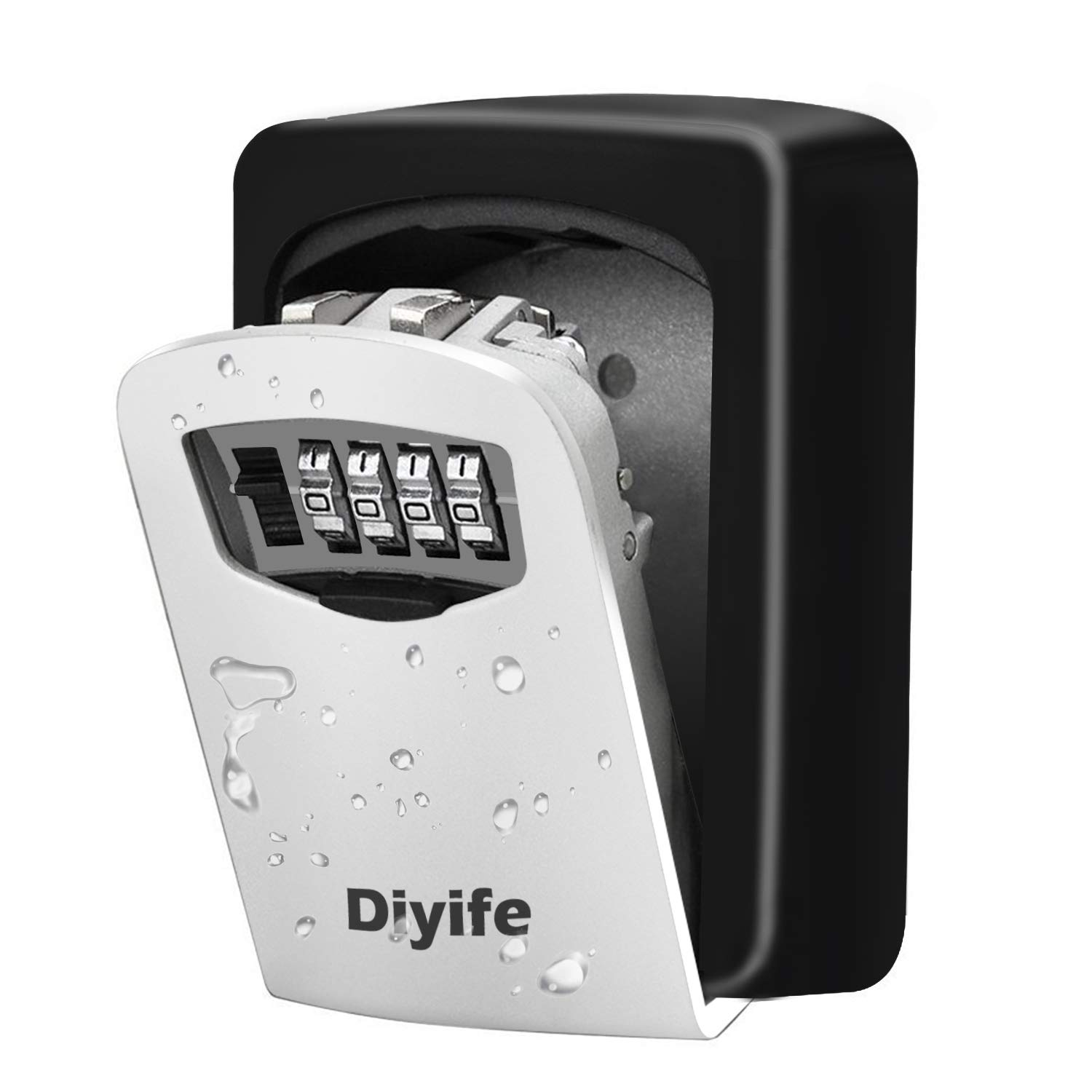 Diyife Key Lock Box, [Updated Version][Wall Mounted] Combination Key Safe Storage Lock Box for for Home Garage School Spare House Keys.