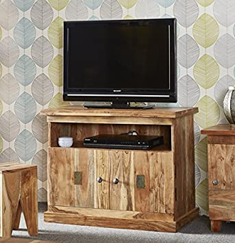 Verty Furniture Meuble Tv 2 Porte Ouverte Etagere Insert En Ardoise