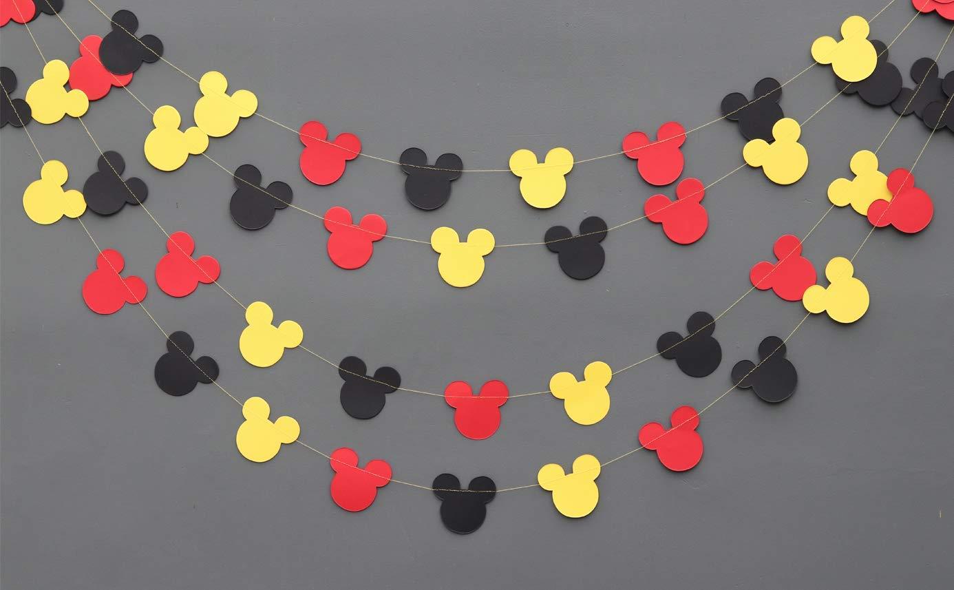 Guirnalda de Mickey Mouse - Guirnalda de papel - Suministros ...