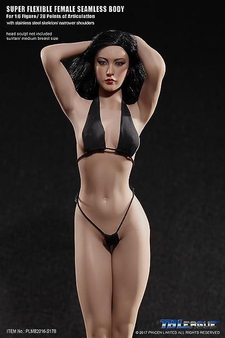 "1//6 Female For 12/"" TBLeague Phicen Seamless Large Bust Body Figure head sculpt"