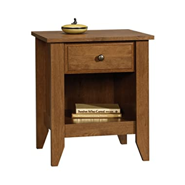 Sauder 410412 Shoal Creek Night Stand, L: 20.87  x W: 17.48  x H: 24.06 , Oiled Oak finish
