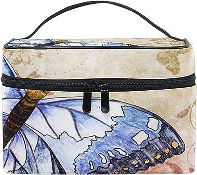 Estuche de Maquillaje de Viaje portátil Bolsa de cosméticos de Mariposa Retro para Pinceles de Maquillaje Accesorios de joyería Accesorios Digitales: Amazon.es: Equipaje