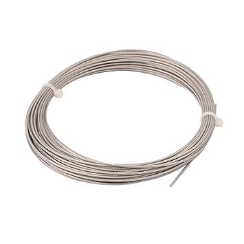 sourcingmap® Cable de acero soga 10m de longitud de 1 mm de ...