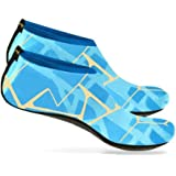 Distinct Unisex Diving Shoes Mens Womens, Sports Aqua Socks for Walking, Yoga, Beach, Garden, Park, Diving, Boating XS~XXL