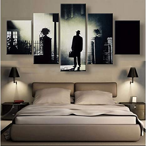 Amazon Com Yangshuang Modern Canvas Wall Art Frame Bedroom Home Decor Hd Printed Pictures 5 Pieces The Painting Modular Movie Poster Canvas Painting Posters Prints