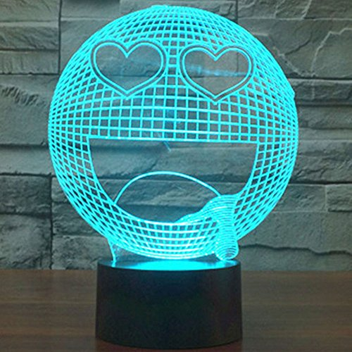 Emoji 3D LED Night Light - 7 Changing Colors
