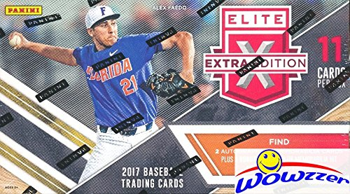 2017 Panini Baseball Elite Extra Edition Factory Sealed Retail Box with FIVE(5) AUTOGRAPHS or MEMORABILIA Cards! Look for Autographs from 2017 USA Baseball Current,18U &15U National Teams! Wowzzer! - National Team Autographs