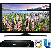 Samsung (UN50J5000) 50-Inch Full HD 1080p LED HDTV (2015 Model) with HDMI 1080p HD DVD Player + 6ft HDMI Cable + Universal Screen Cleaner for LED TVs