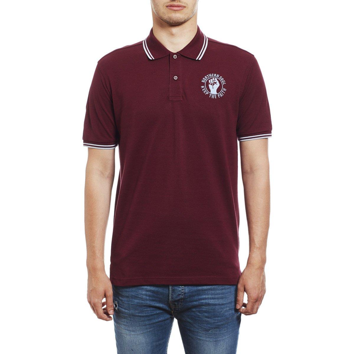 Northern Soul Keep The Faith Embroidered Polo Shirt - Polo para ...