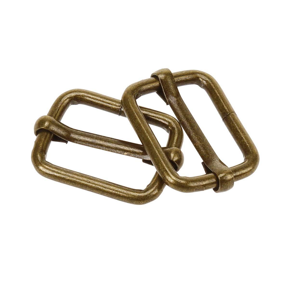 COTOWIN Adjustable Metal Slide Rectangle Buckle,Pack of 20, 3//4 inch