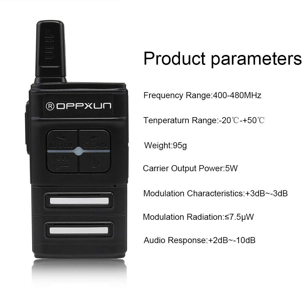 Cdrox La estación de Radio Mini Wiress walkie Talkie UHF ...