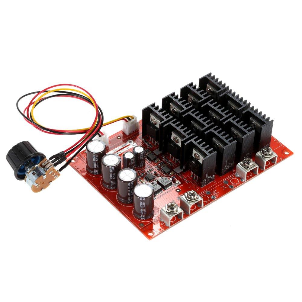 KKmoon 10-50V/60A/3000W DC Motor Speed Control PWM HHO RC Controller 12V 24V 36V 40V 50V Geschwindigkeit Einsteller mit Gehä use PCO9525675828291WZ