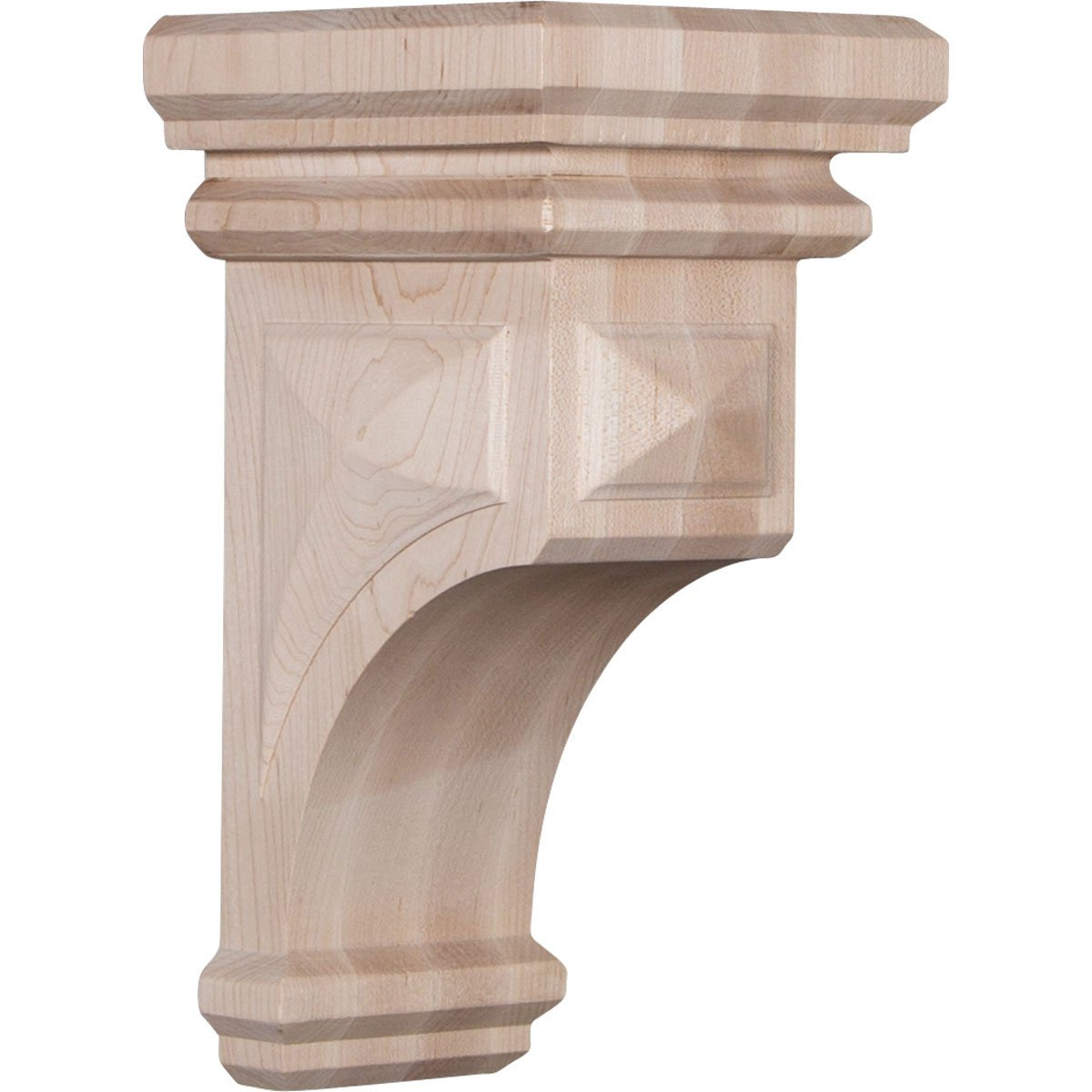Ekena CORW05X05X10WFRW 5-Inch Width x 5 3/4-Inch Depth x 10-Inch Height Medium Woodruff Wood Corbel - Rubber Wood