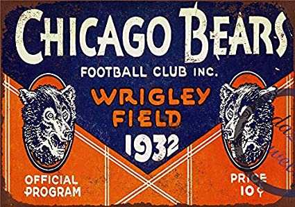 2d3af8e8 Amazon.com: Novelty Funny Sign Chicago Bears Vintage Metal Tin Sign ...