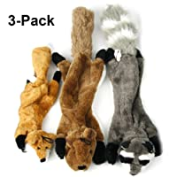 IN HAND Squeaky Dog Toys, 3 Pack Durable Interactive Puppy Toys Set, Dog Sound Chew Squeaker Pets Gift Set for Small Medium Dog by