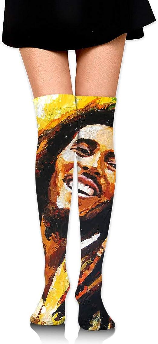 Tammy W Nash Bob Marley - Calcetines Largos de algodón a Rayas ...