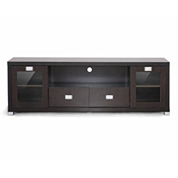 Amazon Com Baxton Studio Gosford Brown Wood Modern Tv Stand
