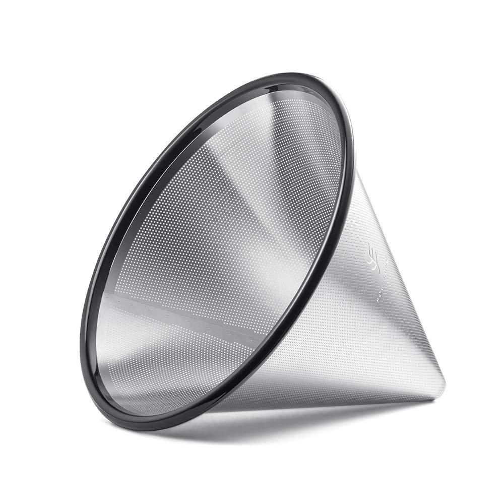 Soulhand 再利用可能な注ぎ式コーヒーフィルター - ステンレススチール製ドリップコーヒーフィルター Chemex 6カップ ガラスコーヒードリッパーカラフェおよびその他のコーヒーメーカー用   B07JWL29ZN
