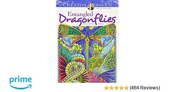 Creative Haven Entangled Dragonflies Coloring Book Adult Dr Angela Porter 9780486805689 Amazon Books